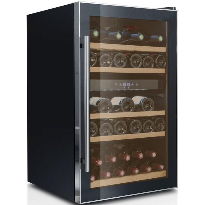 cave vin de service 2 temp 40 bouteilles noir. Black Bedroom Furniture Sets. Home Design Ideas