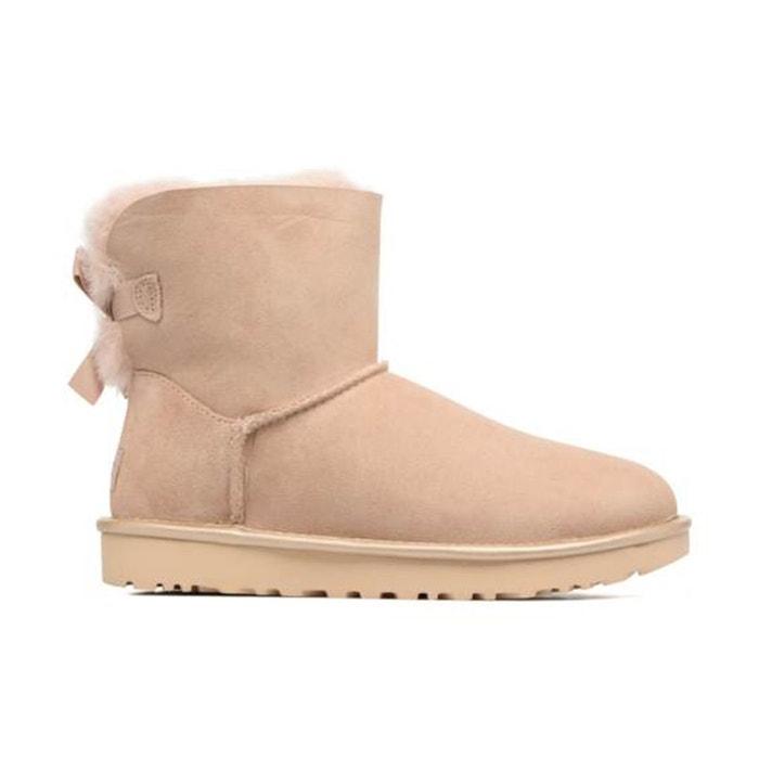 Boots mini bailey bow ii metallic beige Ugg Meilleur Pas Cher Libre Choix D'expédition Vente Moins Cher Magasin De Dédouanement Des Prix Pas Cher kr9kGelbn