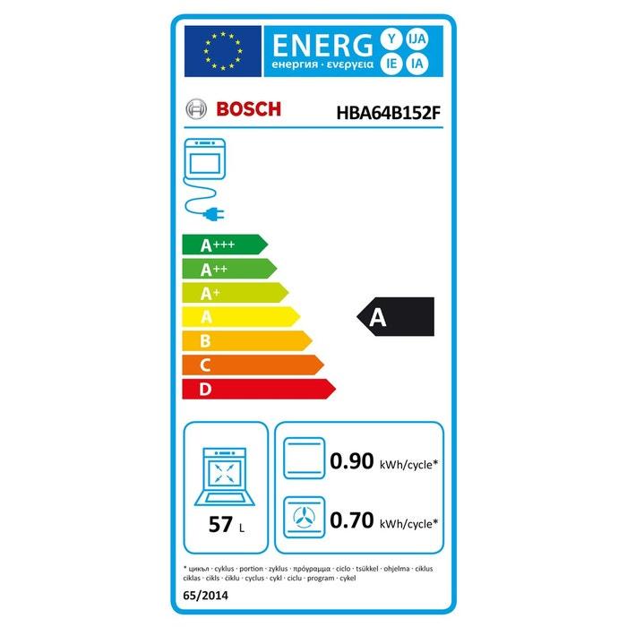 four encastrable pyrolyse hba64b152f inox bosch | la redoute
