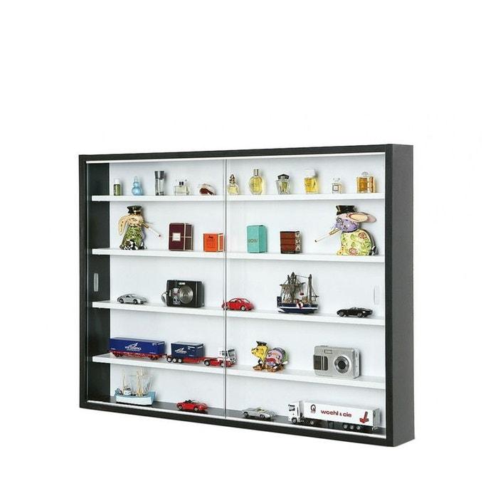 vitrine collector design noir drawer la redoute. Black Bedroom Furniture Sets. Home Design Ideas