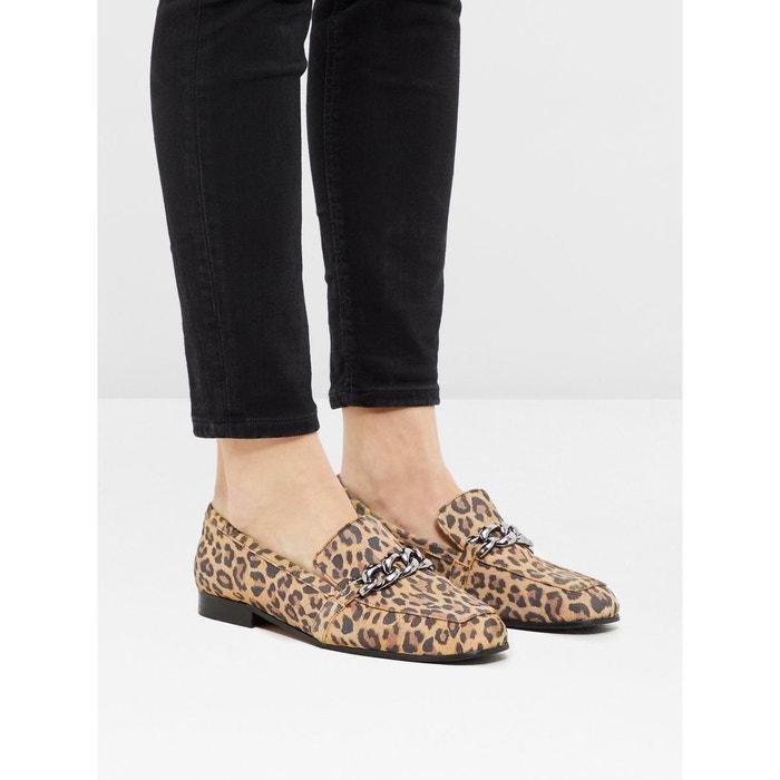 Mocassins habillés chaîne  leopard Bianco  La Redoute