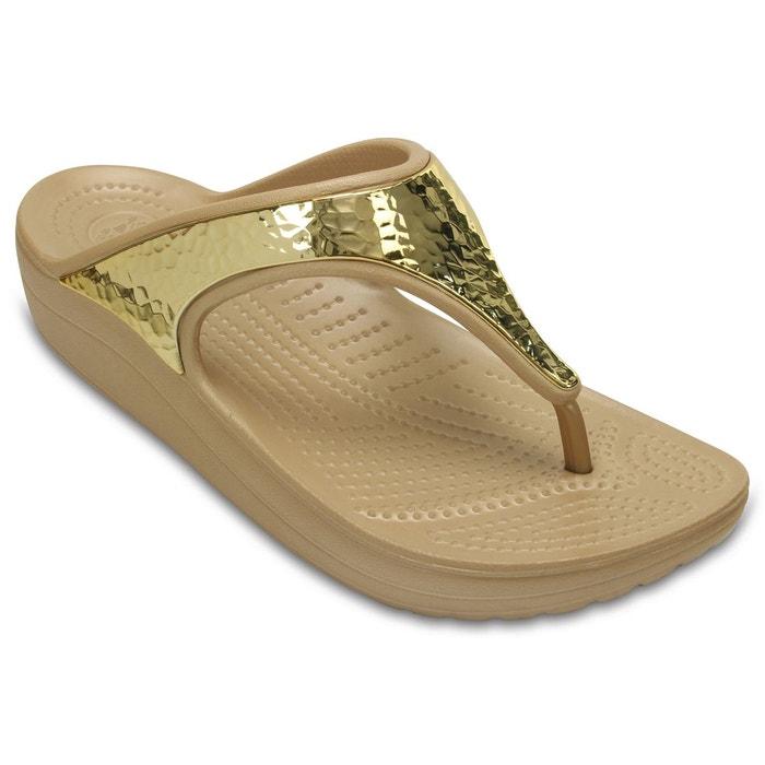 Tongs compensées sloane embellished flip Crocs