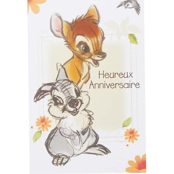 Carte Anniversaire Bambi Multicolore Draeger La Carterie La Redoute