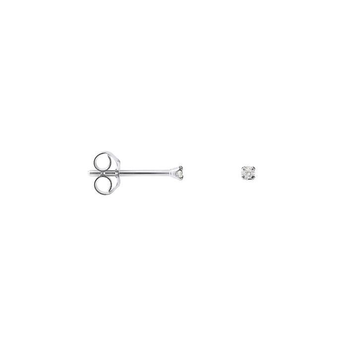 Boucles d'oreilles en or blanc 375 millièmes solos diamants serties 4 griffes blanc Nova Diamonds | La Redoute Pas Cher Large Éventail De Parcourir Frais De Port Offerts MKGxvG8