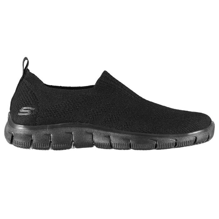 Chaussures de sport à enfiler tricot  noir Skechers  La Redoute