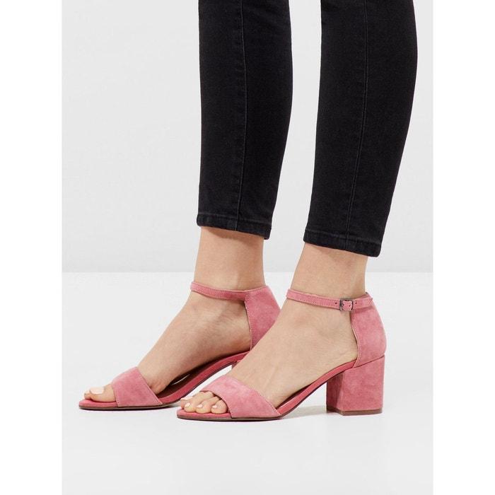 Sandales suédine light pink Bianco Vente Dernière Y5X8z4TF
