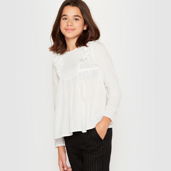 Blusa com folhos 10-16 anos R pop