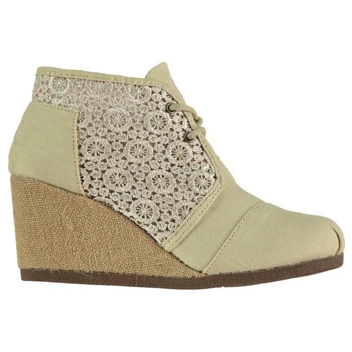 Chaussure semelle compensée à lacets natural Skechers