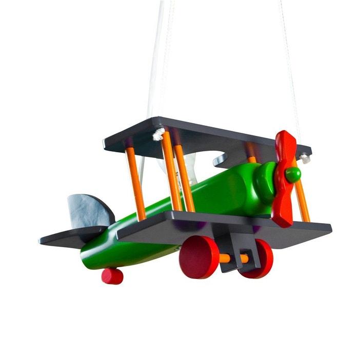 suspension enfant avion multicolore en bois multicolore keria la redoute. Black Bedroom Furniture Sets. Home Design Ideas