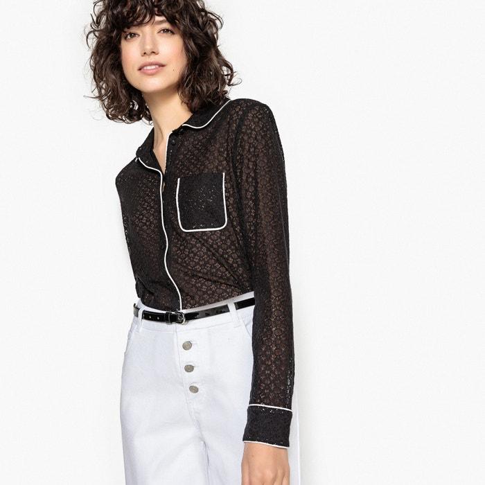 Camicia in guipure, colletto e taschino  MADEMOISELLE R image 0