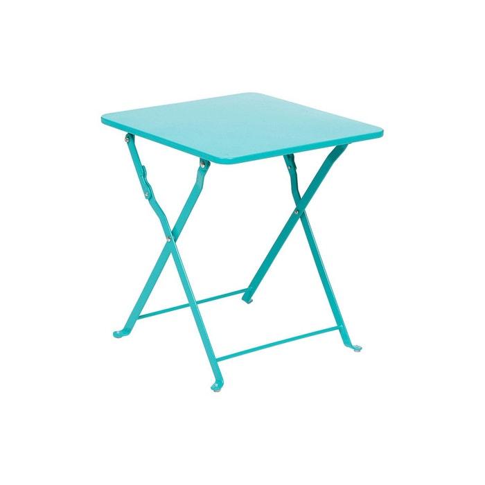 Table d 39 appoint de jardin nindiri 40 x 40 cm lagon for Table de jardin la redoute