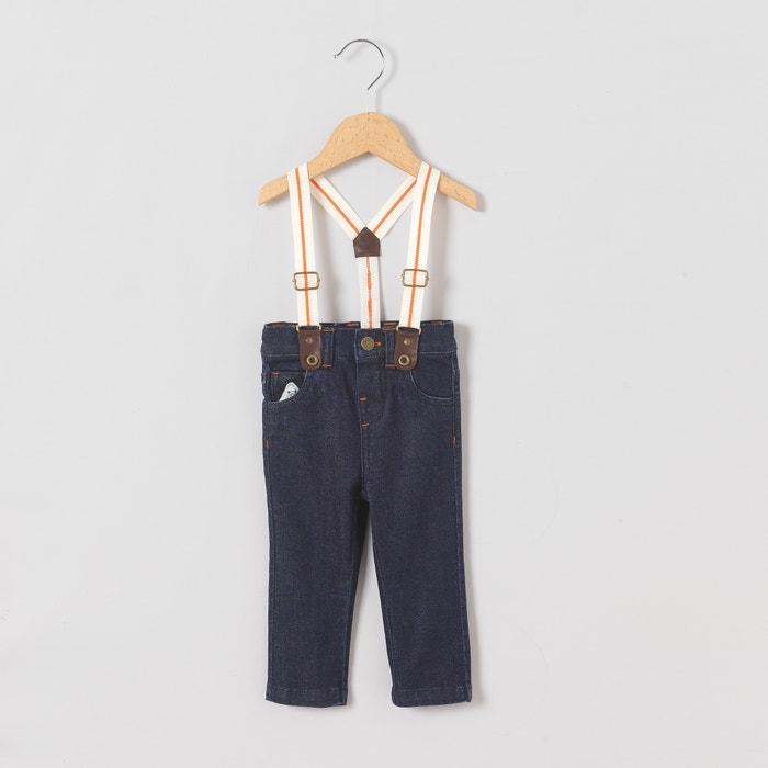 afbeelding Slim jeans met bretellen 1 mnd-3 jr R mini