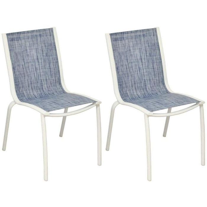 Chaise aluminium textilène Linea (Lot de 2)