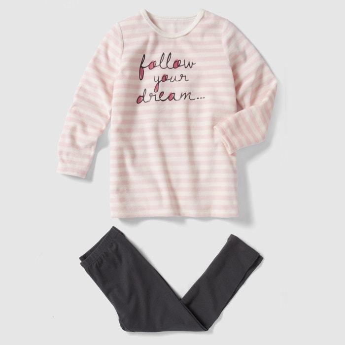 Image Pyjama in jersey en fluweel abcd'R