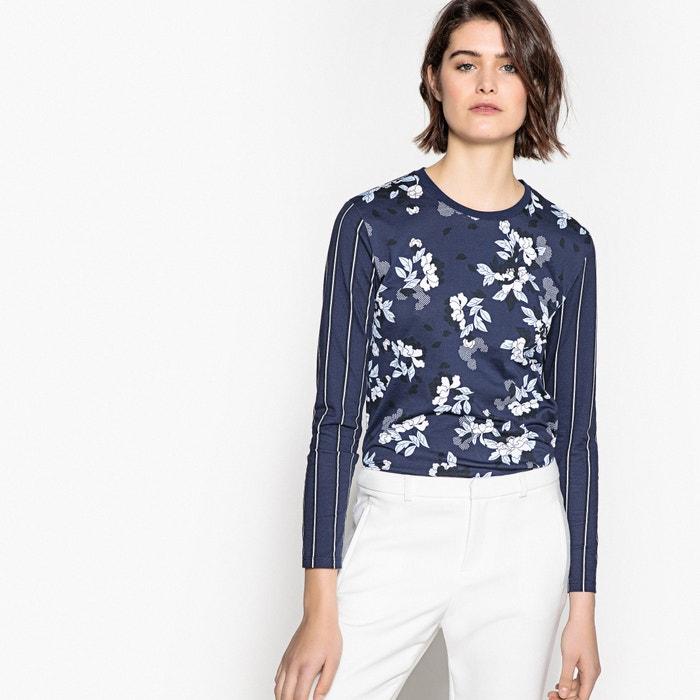 T-shirt doppia fantasia, righe e fiori  La Redoute Collections image 0