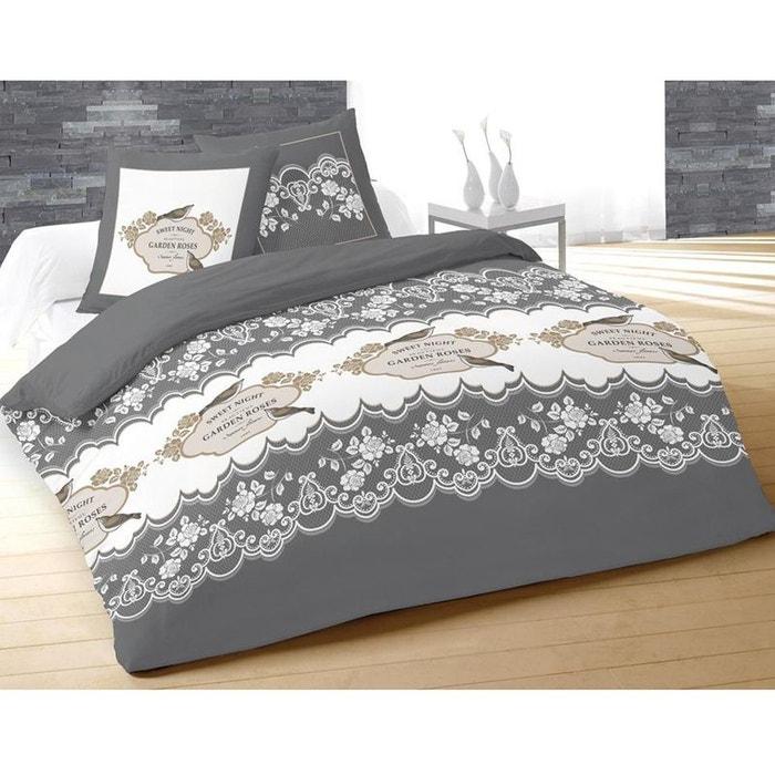 parure de lit garden 260 x 240 cm mod le gris couleur unique cbk la redoute. Black Bedroom Furniture Sets. Home Design Ideas
