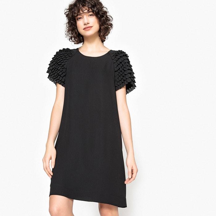 Kleid mit Ziervolants an den Ärmeln, gerader Schnitt  MADEMOISELLE R image 0