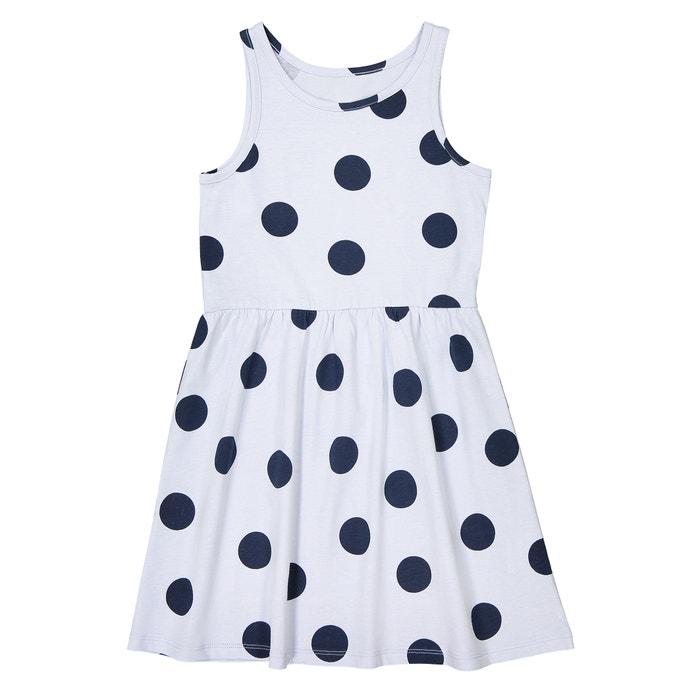 Sleeveless Polka Dot Print Dress, 3-12 Years  La Redoute Collections image 0