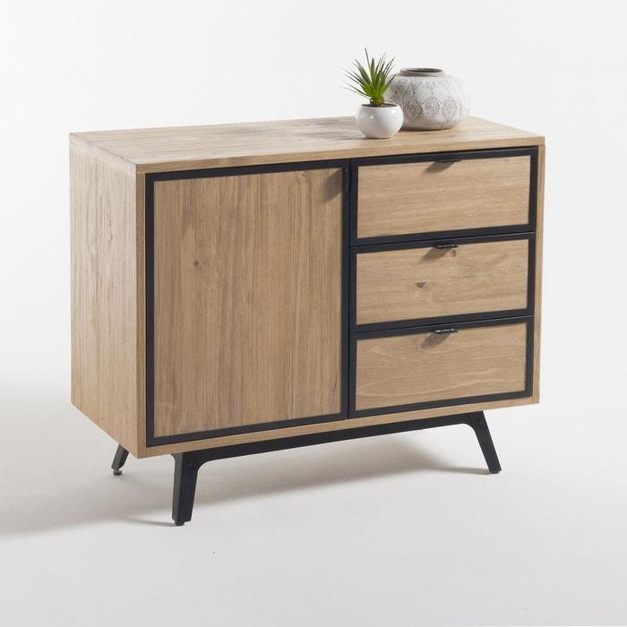 buffet 1 porte 3 tiroirs daffo bois naturel la redoute interieurs la redoute. Black Bedroom Furniture Sets. Home Design Ideas