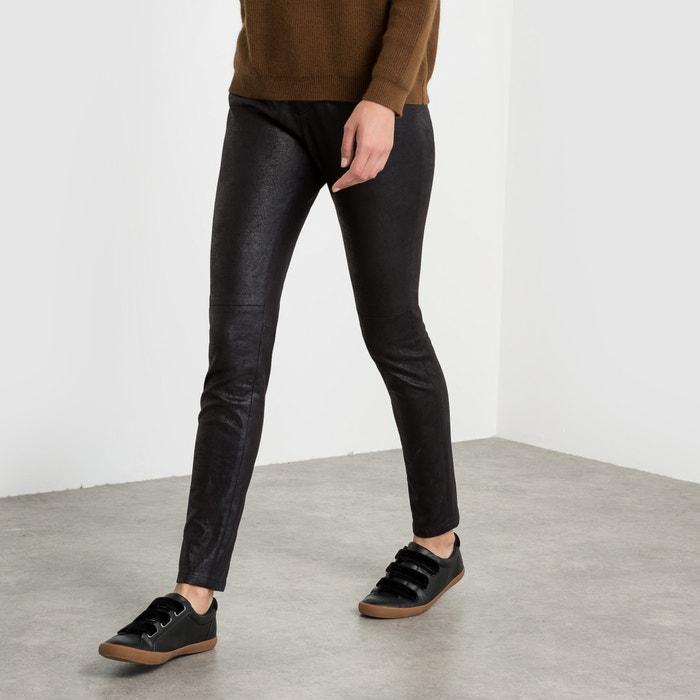 Image Pantalon slim, effet peau de pêche satin SEE U SOON