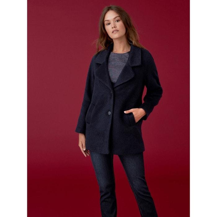 laine mohair bleu foncé uni femme de Manteau drap malley Somewhere qxtIPwt7B