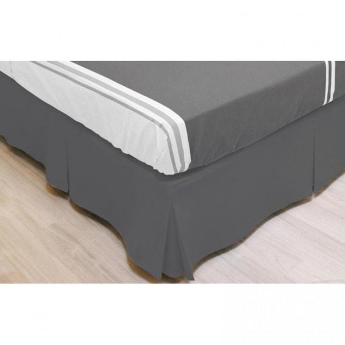 cache sommier int gral microfibre gris gris terre de nuit. Black Bedroom Furniture Sets. Home Design Ideas