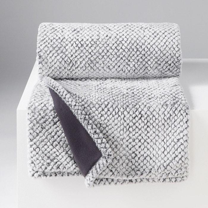 plaid couverture a poil doux imitation fourrure collection yuma gris douceur d 39 int rieur la. Black Bedroom Furniture Sets. Home Design Ideas