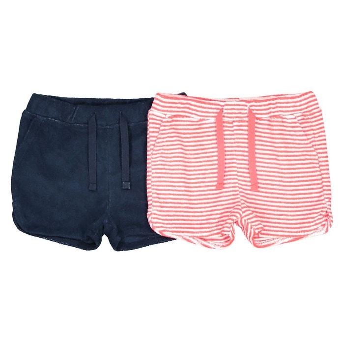 b55dfb457f6c7a Lot de 2 shorts en éponge 1 mois - 3 ans, Oeko Tex
