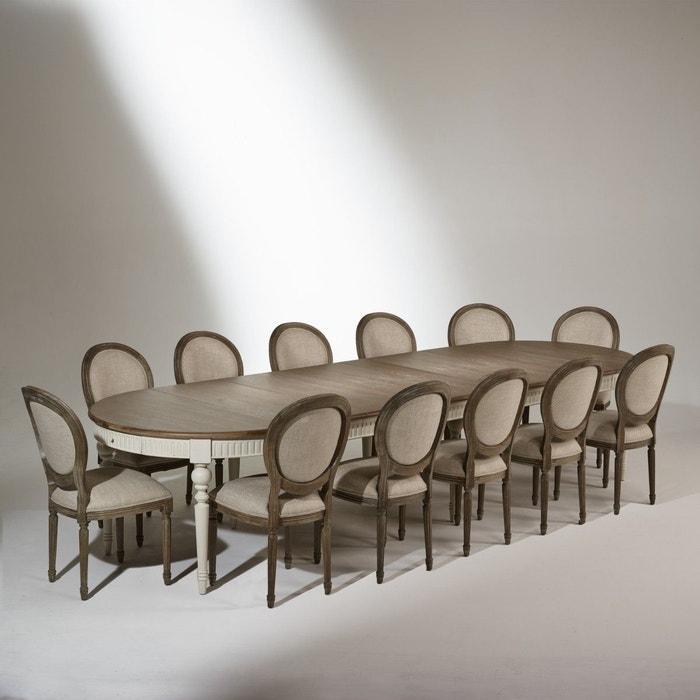 Table De Salle A Manger Aude Noire Extensible 4 A 16 Couverts