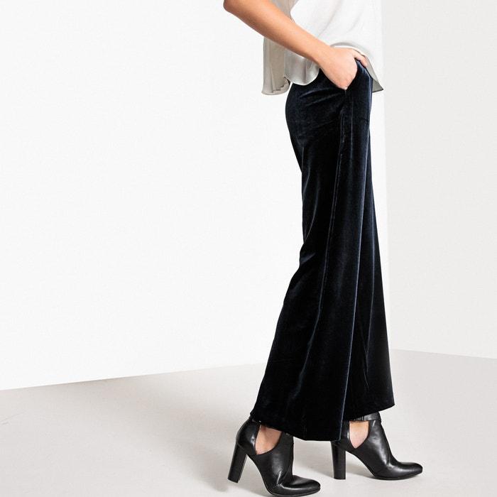 Wide Leg Velvet Trousers  SUNCOO image 0