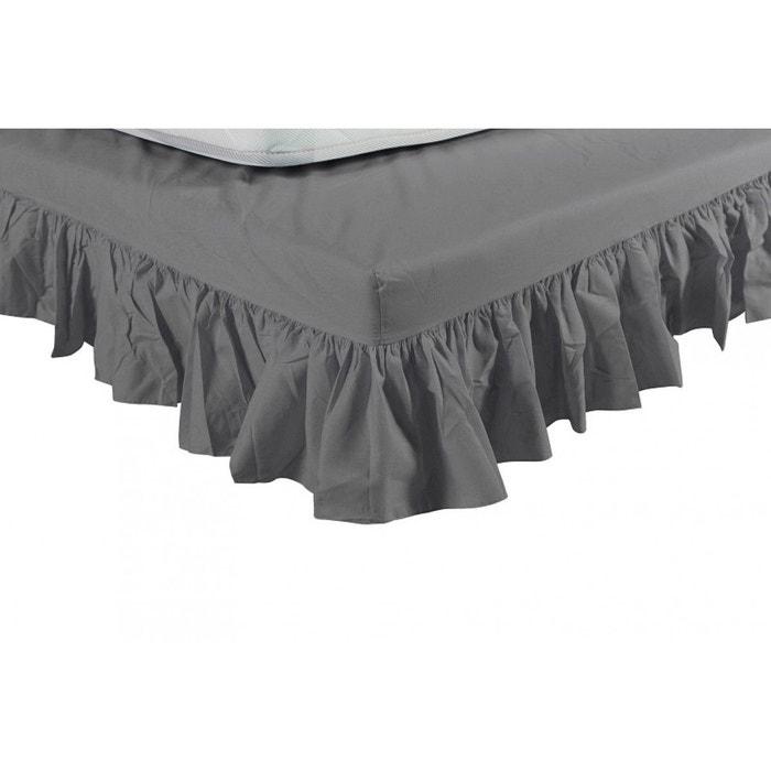 cache sommier souris int gral volants gris terre de nuit. Black Bedroom Furniture Sets. Home Design Ideas