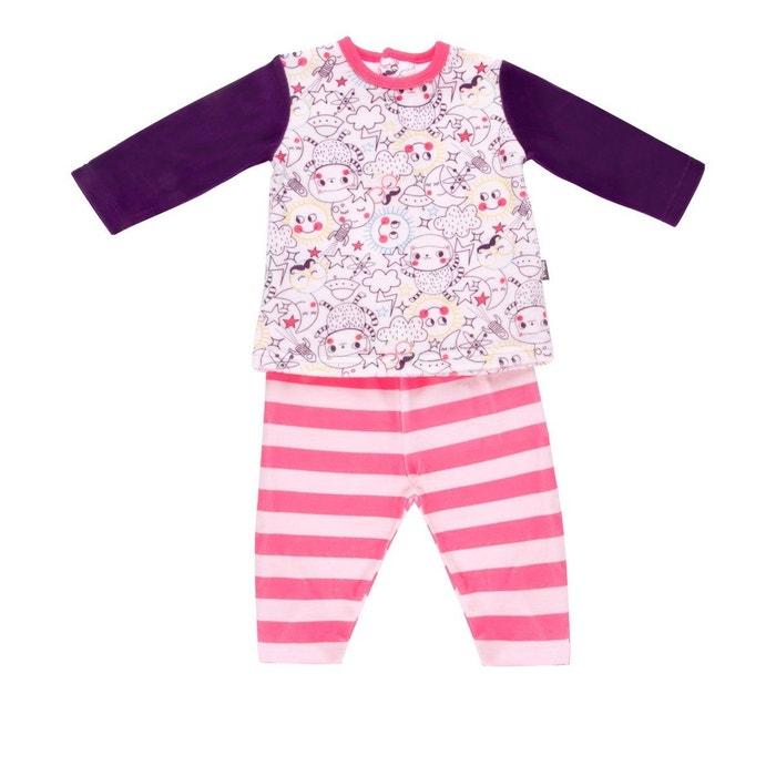 Pyjama 2 pièces velours bébé fille Rêveuse