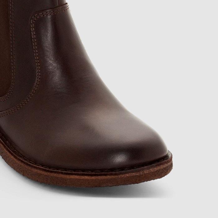 Boots en cuir creeboots marron foncé Kickers