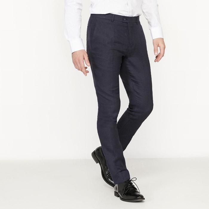 Image Pantalon de costume coupe slim en lin mélangé La Redoute Collections