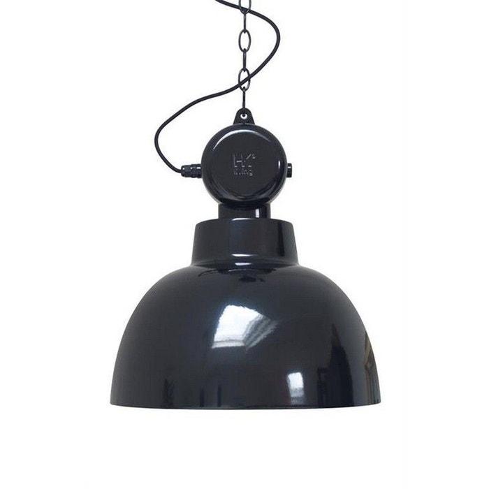 grande suspension industrielle m tal brillant hk living factory 50 cm noir hk living la redoute. Black Bedroom Furniture Sets. Home Design Ideas