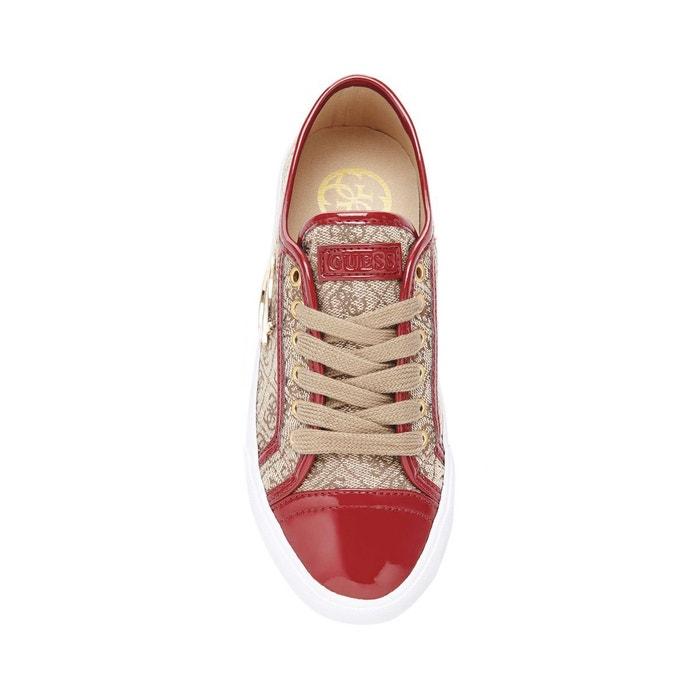 Sneaker elly motif logo marron Guess