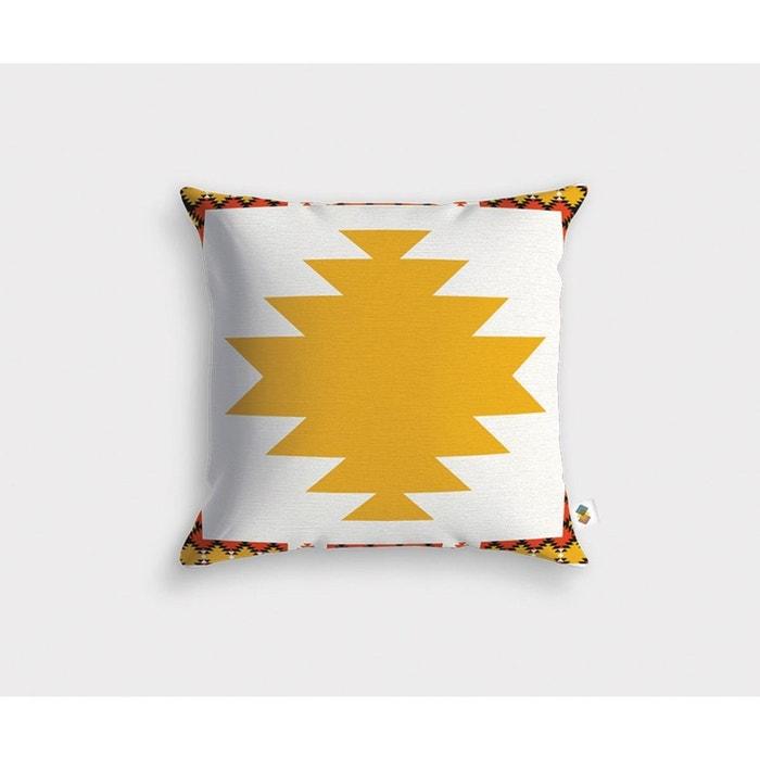 housse de coussin ozalee jaune meubles design la redoute