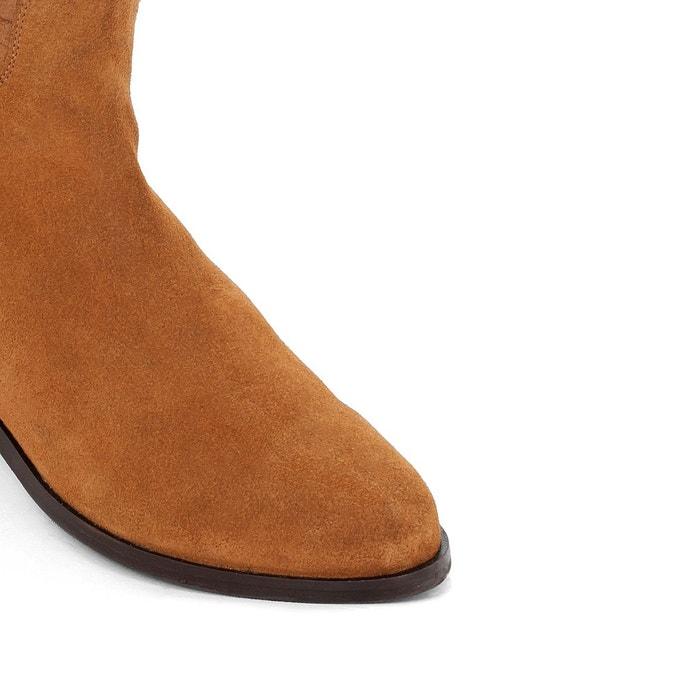 Boots Cuir Tressé Camel Camel 6AppR2DyRt