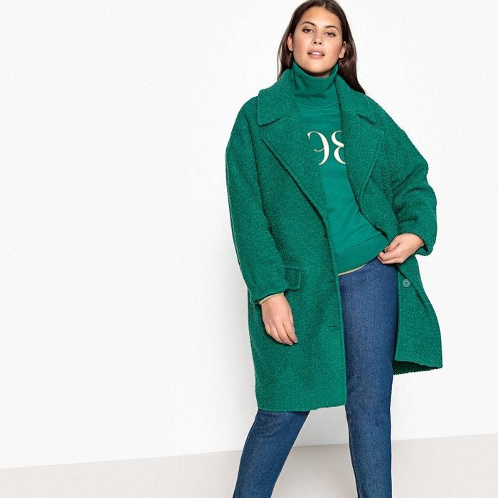 Manteau mi-long, 44% laine, fermeture boutonnée  CASTALUNA image 0