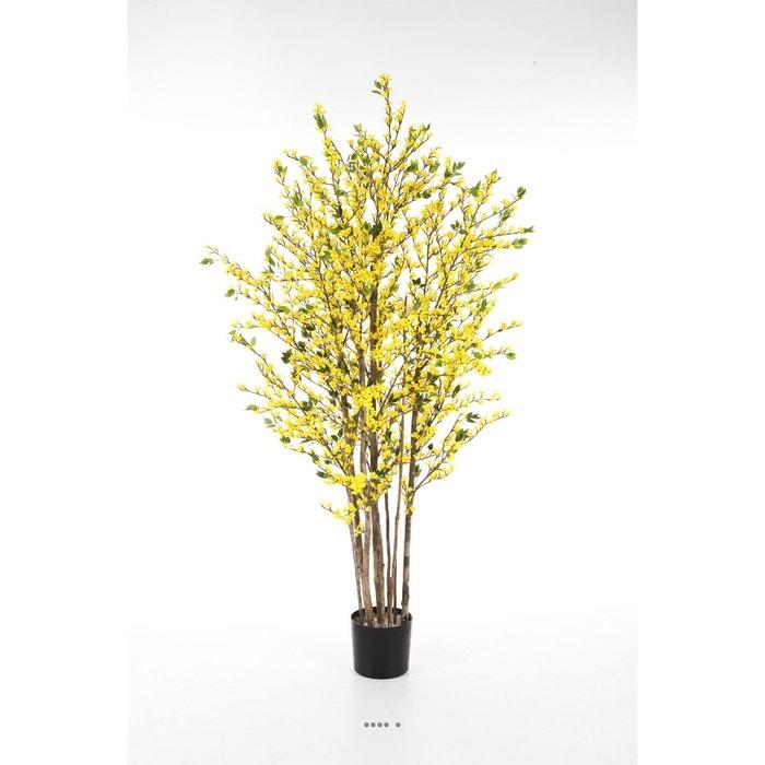 forsythia artificiel h 130 cm 360 feuilles 1450 fleurs arbre en pot choisissez la hauteur h. Black Bedroom Furniture Sets. Home Design Ideas