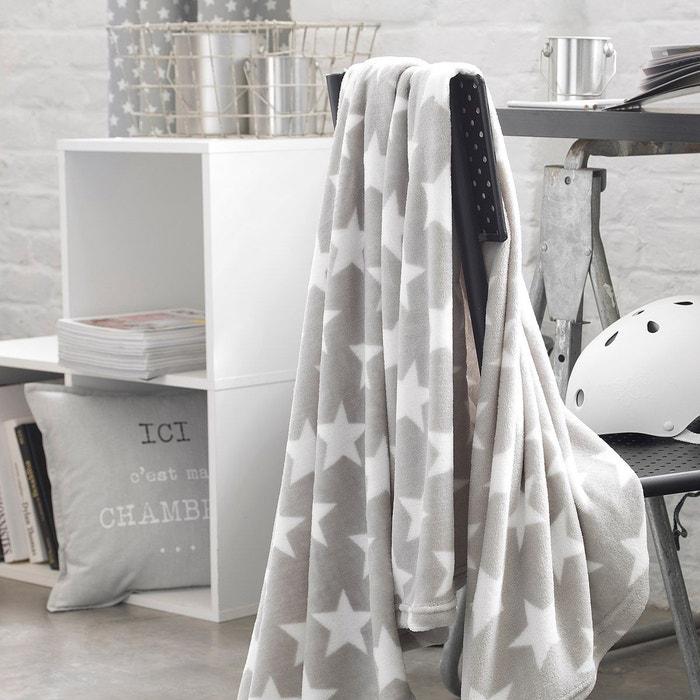plaid star gris gris today la redoute. Black Bedroom Furniture Sets. Home Design Ideas