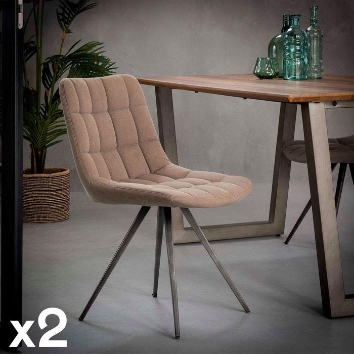 sablelot Chaise contemporaine jeans de tissu 2 salle rembourrée à manger de 9bWEeIHYD2