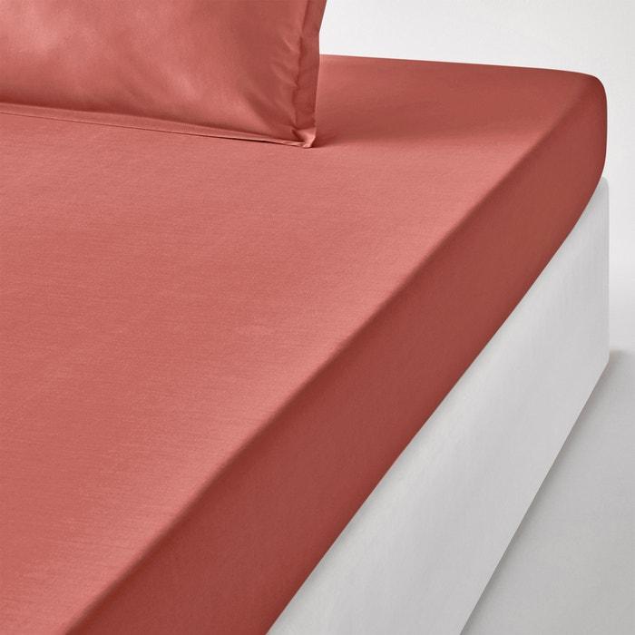 Plain 100% Cotton Percale Fitted Sheet  La Redoute Interieurs image 0