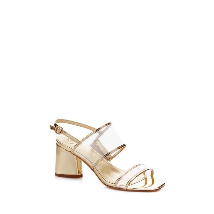 Sandales sedonne effet métallisé  or Guess  La Redoute