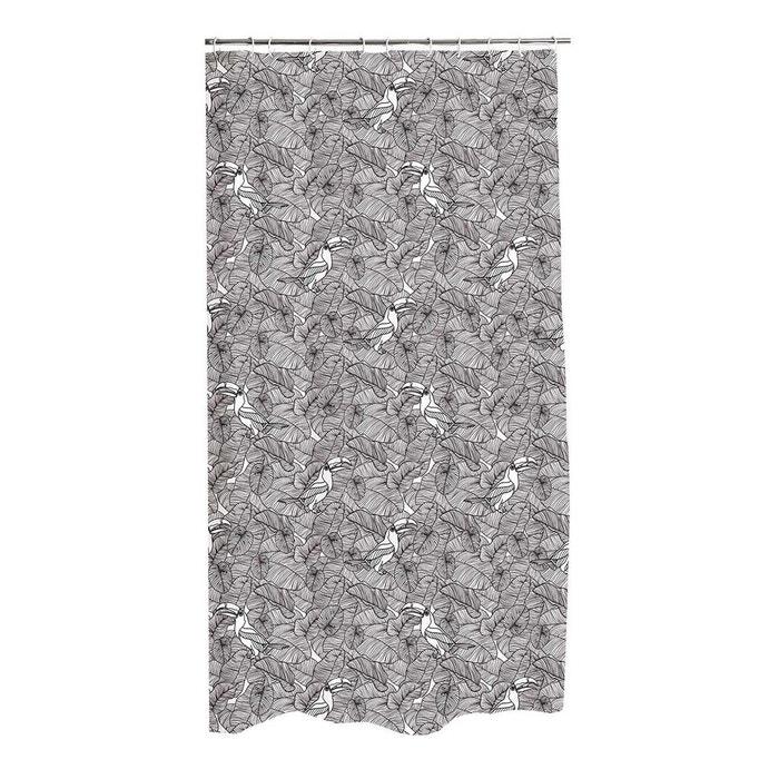 rideau de douche amazonia blanc decoratie la redoute. Black Bedroom Furniture Sets. Home Design Ideas