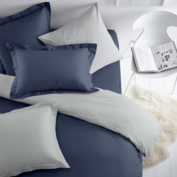 Housse de couette bicolore coton polyester scenario la redoute - Housse de couettes la redoute ...