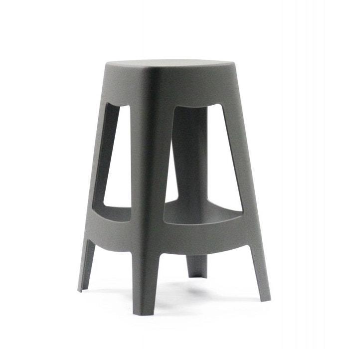 tabouret de bar ext rieur design empilable en plastique gris gris wadiga la redoute. Black Bedroom Furniture Sets. Home Design Ideas