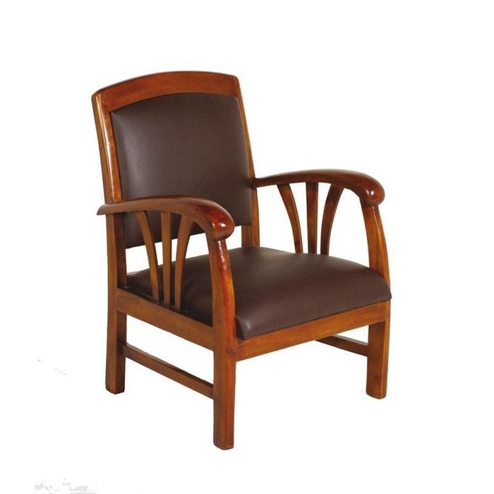 fauteuil vinyl chocolat dika chocolat pier import la redoute. Black Bedroom Furniture Sets. Home Design Ideas