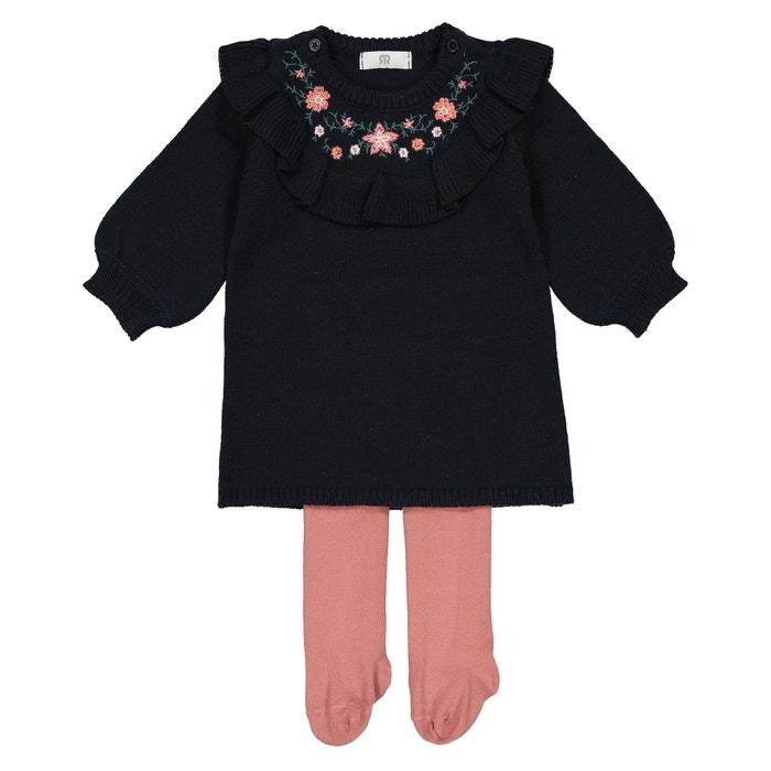 Conjunto de 2 peças, vestido + collants 1 mês - 3 anos  La Redoute Collections image 0