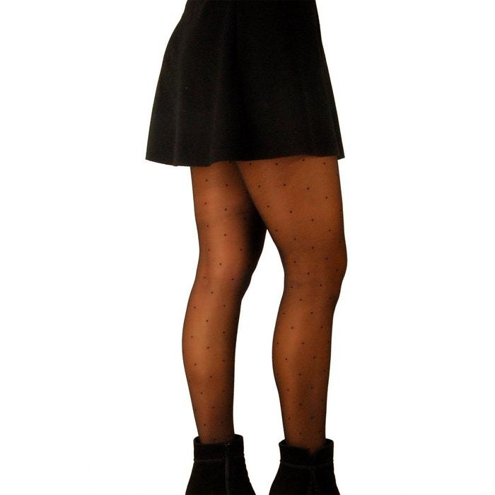 Collant fantaisie avec petits pois noir Mamsy  6c8d950a65b